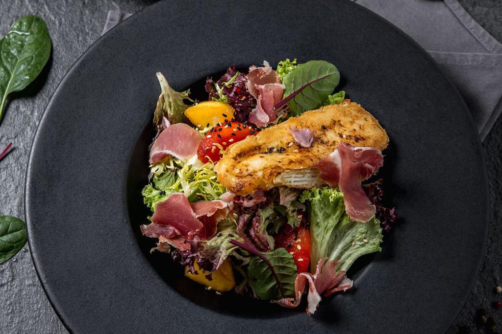 Chesse Brie Salad, Prosciutto