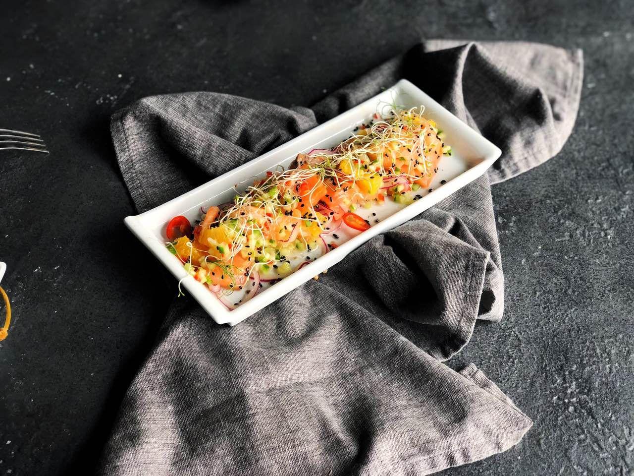 Паста з лососем і шпинатом